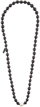 eskandar Kamagong Bead and Freshwater Pearl Necklace
