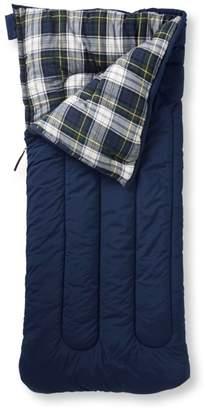 L.L. Bean L.L.Bean Camp Sleeping Bag, Kids' Flannel-Lined 40