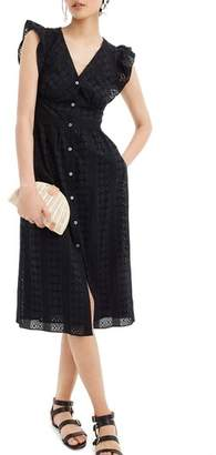 J.Crew J. CREW Ruffle Sleeve Eyelet Dress