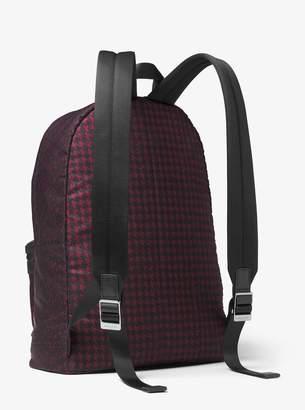 Michael Kors Kent Houndstooth Nylon Backpack