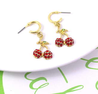 10173a715 Lucy Loves Neko Cherry Half Hoop Earrings