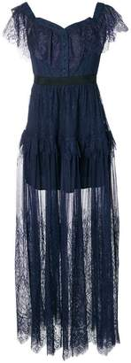 Self-Portrait lace maxi dress
