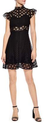 Sandro Lace Fit & Flare Dress