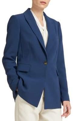 Donna Karan One-Button Long Jacket