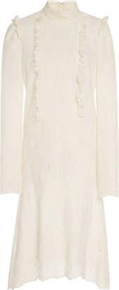 Anna Sui Wild Jasmine Embroidered Eyelet Dress