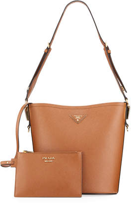 Prada Saffiano Leather Bucket Bag