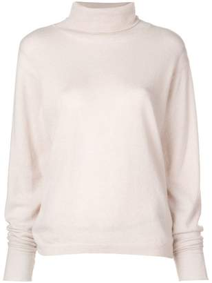 Nude turtleneck jumper