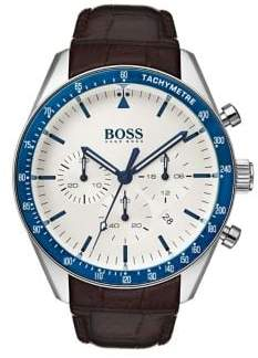 HUGO BOSS Trophy 1513629 Leather Strap Chronograph Watch