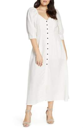 Something Navy Puff Sleeve Dress