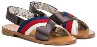 Gucci Kids criss-cross flat sandals