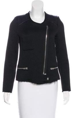 IRO Phoebe Leather-Trimmed Jacket