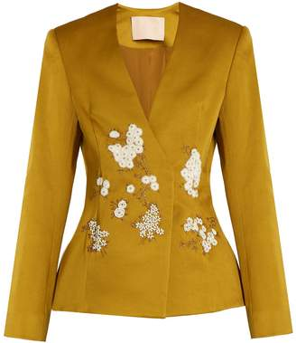 Brock Collection Jaynce embellished cotton-blend jacket