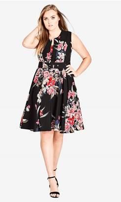 City Chic Citychic Misty Floral Dress