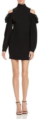 AQ/AQ Azha Cold-Shoulder Mini Dress $225 thestylecure.com