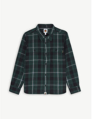 A Bathing Ape Checked cotton shirt 4-10 years
