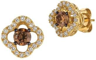 LeVian Le Vian Women's Chocolatier Vanilla Diamond, Chocolate Diamond and Honey Gold Earrings