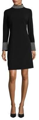 Karl Lagerfeld Paris Crepe Sheath Dress