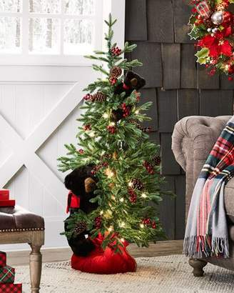 Ditz Designs By The Hen House Winnipeg Christmas Tree with Bears, 48""