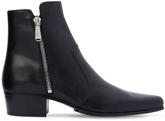 Balmain 35mm Anthos Zip Leather Ankle Boots