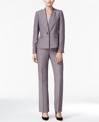 Le Suit Micro-Stripe Single-Button Pantsuit $200 thestylecure.com