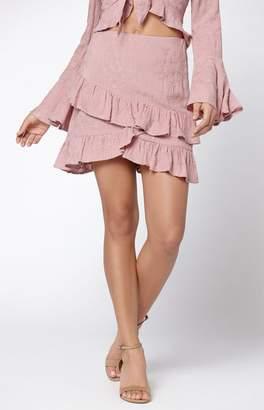 Lost + Wander Rose Ruffle Skirt