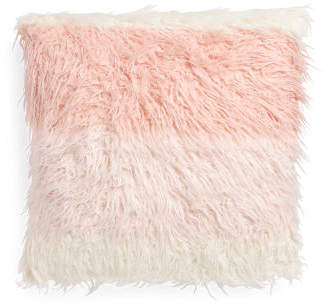 26x26 Oversized Dip Dyed Faux Fur Pillow