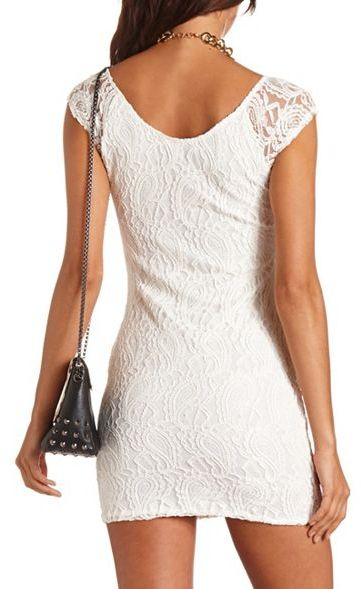 Charlotte Russe Paisley Lace Body-Con Dress