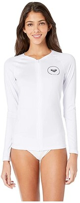 Roxy Essentials Long Sleeve UPF 50 Zip Up Rashguard