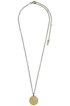 Pilgrim Cancer Gold Star-Sign-Necklace