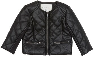 Habitual Jade Faux Leather Quilted Jacket