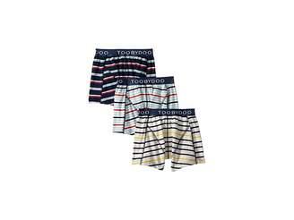 Toobydoo Multi Stripe Boxers Underwear 3-Pack (Infant/Toddler/Little Kids/Big Kids)