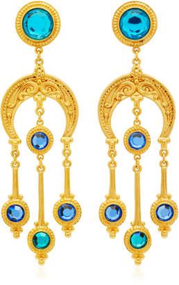 Ben-Amun Ben Amun Gold-Plated Crystal Earrings