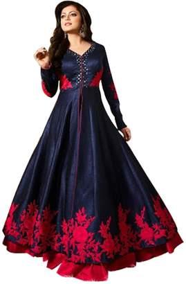 SHRI BALAJI SILK & COTTON SAREE EMPORIUM Indian Gown Anarkali Shalwar Kameez Suit Wedding Ethnic Dress