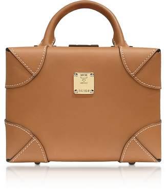 MCM Cognac Soft Berlin Small Crossbody Bag