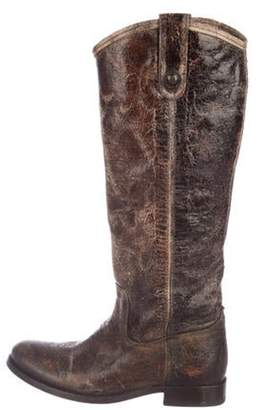 Frye Distressed Leather Boots Brown Distressed Leather Boots