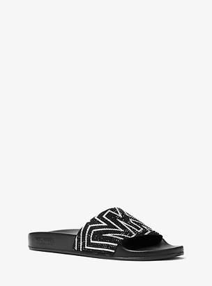 Michael Kors Gilmore Embellished Leather Slide