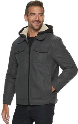 Urban Republic Men's Wool Hooded Jacket