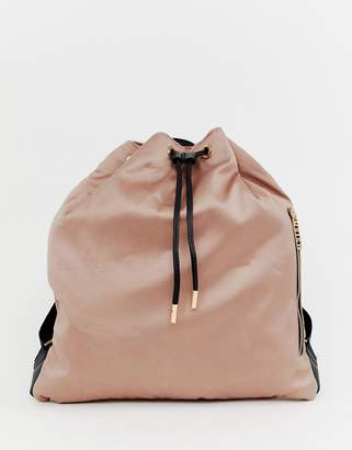 Juicy Couture oversized drawstring backpack