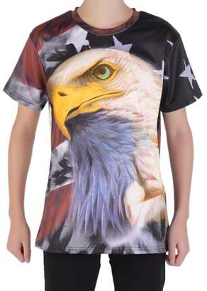 give American Style Animal Men'S Casual Short Sleeve Summer O-Neck T-Shirt