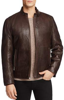 Andrew Marc Leather Jacket Lined with Faux Shearling - 100% Exclusive