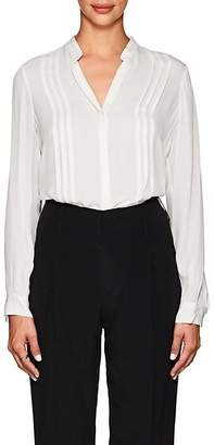L'Agence Women's Amalea Pintucked Silk Blouse