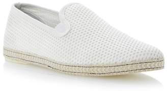 Dune Off White 'Fence' Mesh Slip On Espadrille Shoes