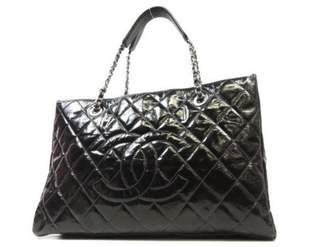 Chanel Grand shopping Black Patent leather Handbag