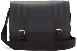 Burberry London Check Pvc Messenger Bag - Mens - Black Navy