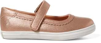 Ralph Lauren Faux-Leather Mary Jane Sneaker