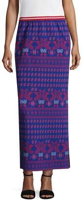 Anna Sui Women's Swan Intarsia Maxi Skirt