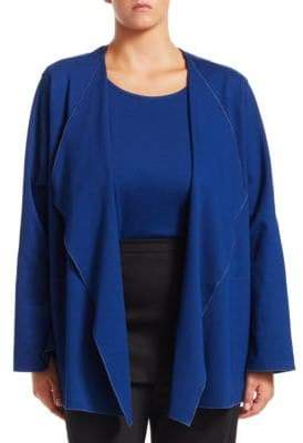 Caroline Rose Plus Blue Becomes You Cardigan& Tank Twin Set