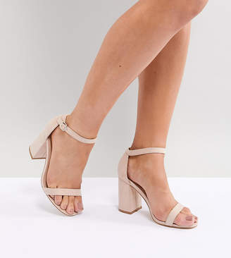 London Rebel Wide Fit Block Heeled Sandals