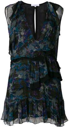 IRO ruffle-trim fitted dress