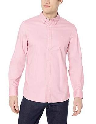 Calvin Klein Men's Long Sleeve Cotton Stretch Casual Button Down Oxford Shirt